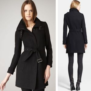 BURBERRY - Cashmere Blend trench Pea coat Black, 2